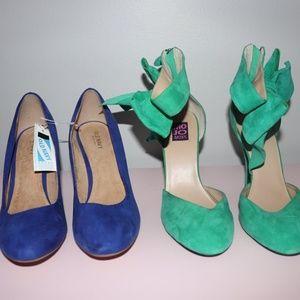 New sz 9 shoes mojo moxy bow old navy heels lot